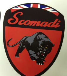 Scomadi Logo Badge Printed Decal Sticker Mod Nos Custom RED FP TL 50 125 200
